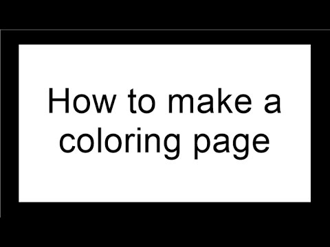 How to make coloring pages
