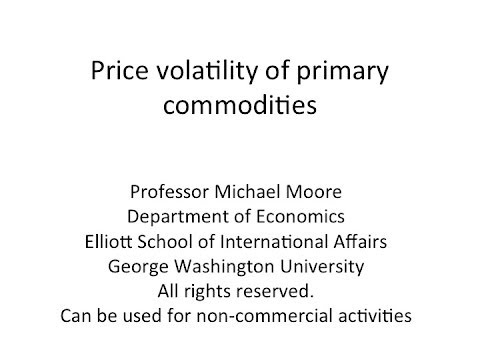 Price Volatility Of Primary Commodities