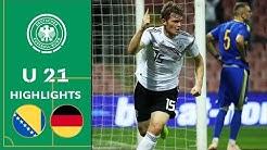 Kilian & Nmecha treffen | Bosnien-Herzegowina - Deutschland 0:2 | Highlights | U 21 EM-Qualifikation