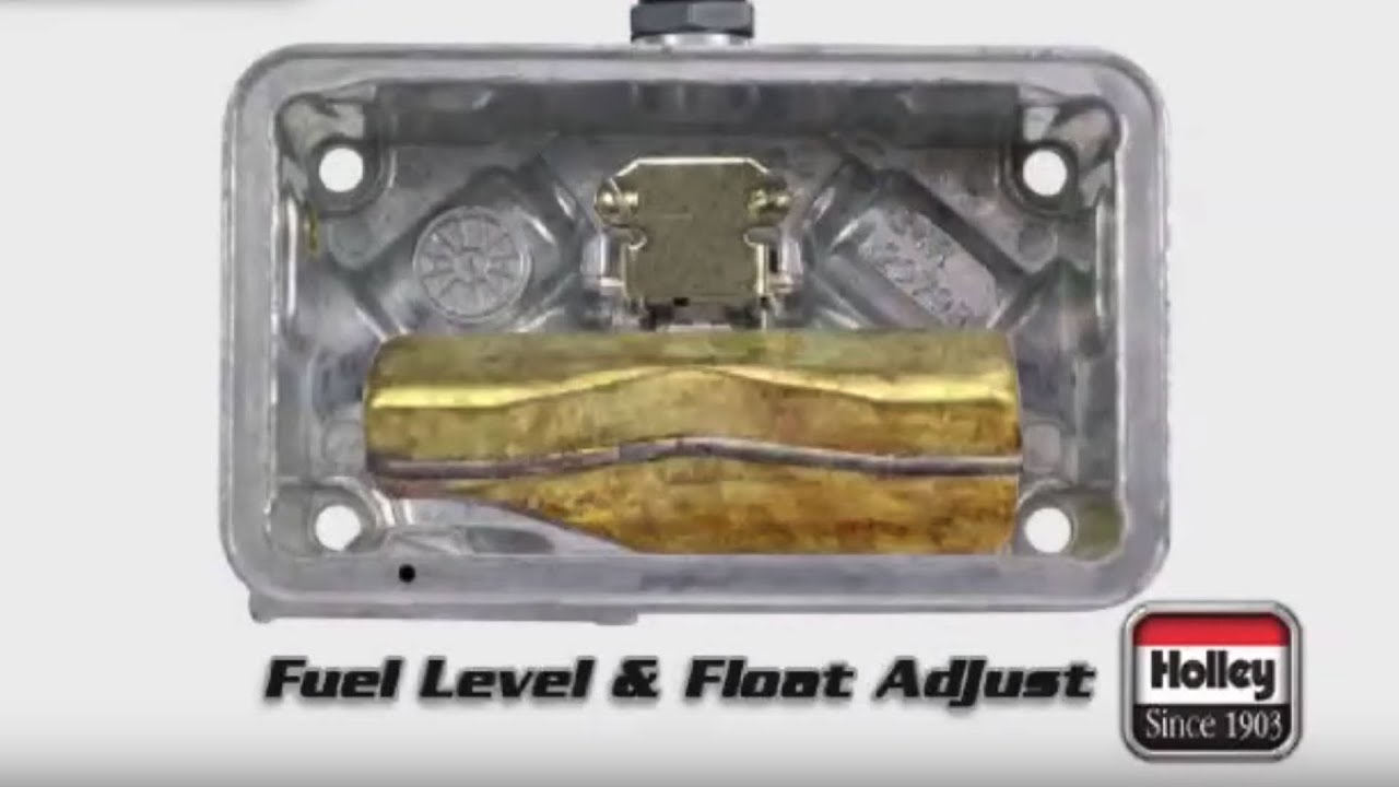 how to adjust fuel and float level on holley carbs [ 1280 x 720 Pixel ]