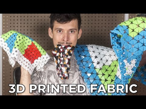 Experimenting with 3D Printed Fabric