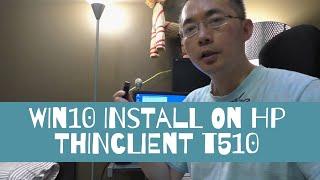 Install SSD HP T610