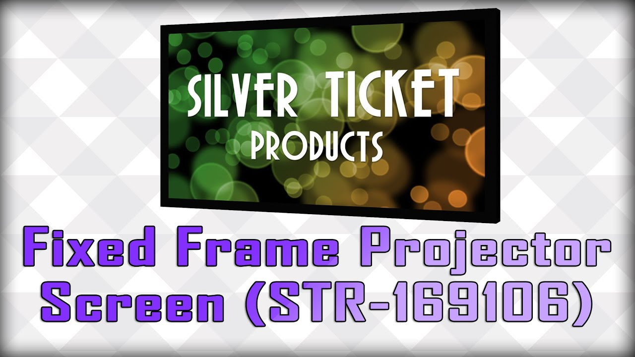 silver ticket products fixed frame projector screen review str 169106 thats it guys