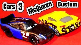 Pixar Cars 3 Custom Paint Jackson Storm made from Lightning McQueen and Bonus Cruz as Jackson Storm
