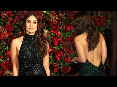 Kareena Kapoor HOT Backless Dress At Deepika Padukone & Ranveer Singh's WEDDING Reception