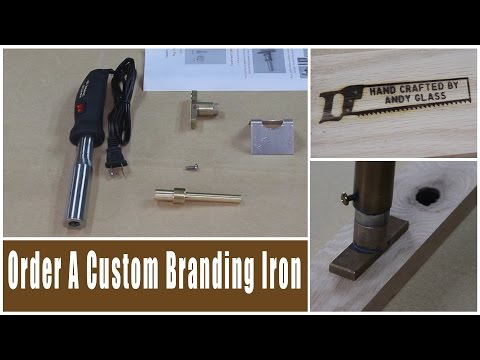 Rockler Custom Branding Irons Review | Glass Impressions