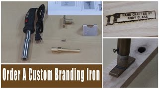 Custom Branding Irons Available at Rockler