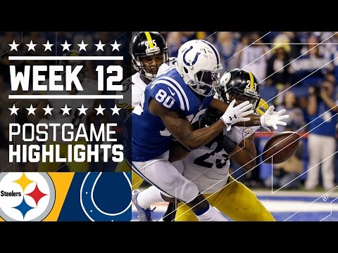 Steelers vs. Colts (Week 12) | Game Highlights | NFL on Thanksgiving