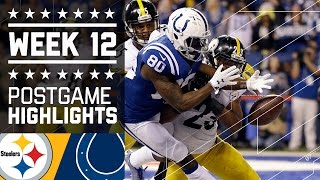 Steelers vs. Colts | NFL on Thanksgiving Week 12 Game Highlights