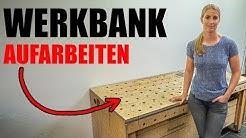Werkbank wieder aufarbeiten ✅ danach ist es wieder ein 🎁 PRACHTSTÜCK!