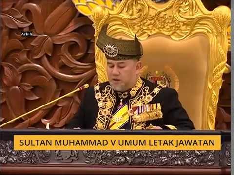 Sultan Muhammad V umum letak jawatan