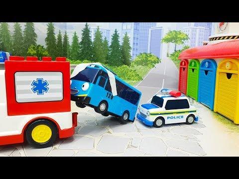Мультики для детей с игрушками - Тайо заболел! Игрушечные видео смотреть онлайн