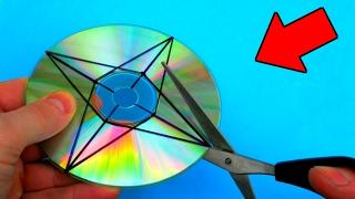 как сделать сюрикен из диска