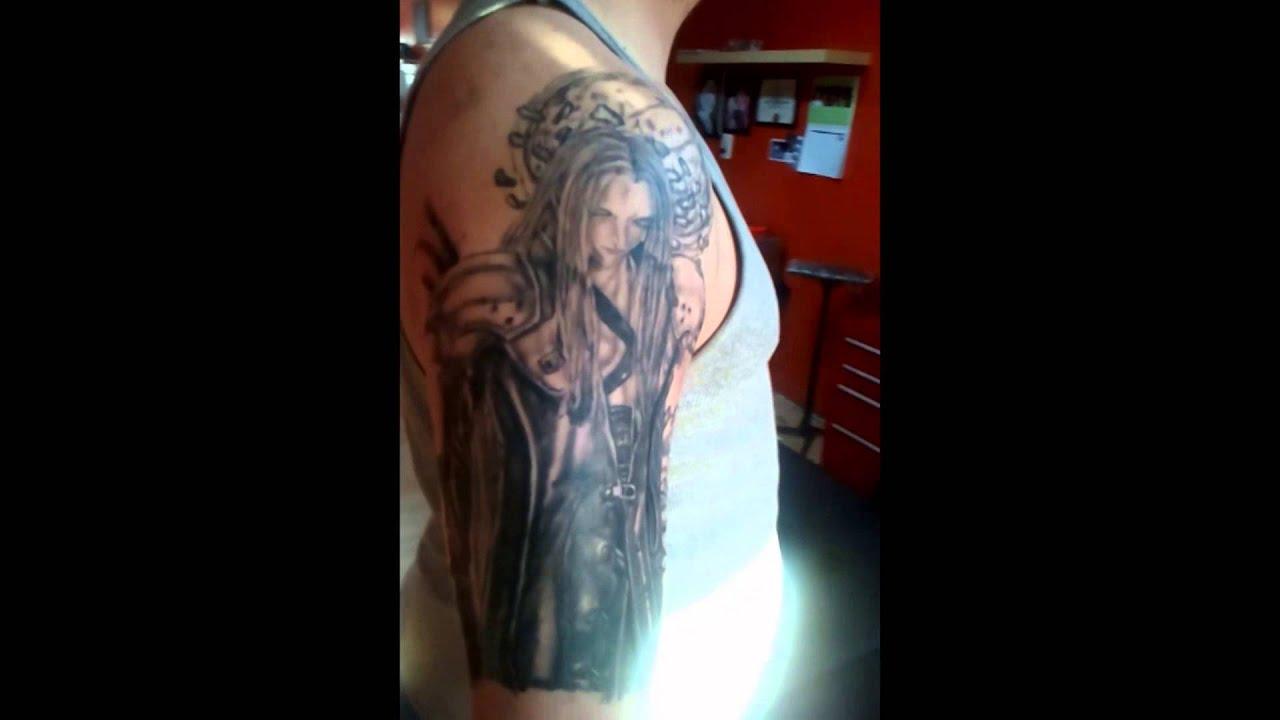 Fantasy Tattoo Sleeve: Final Fantasy 7 Tattoo Sleeve By Rysqo. Sephiroth, Zack