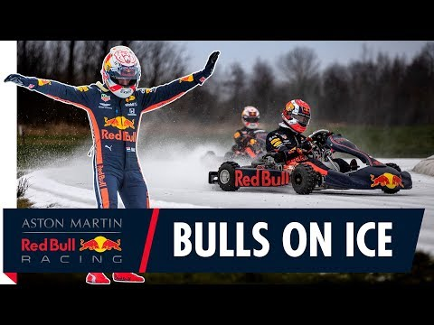 Bulls On Ice | Max Verstappen And Pierre Gasly Go Karting On Ice