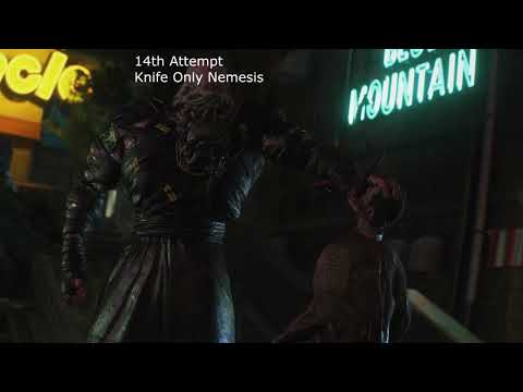 Resident Evil 3: Raccoon City Demo - Nemesis Knife Only - Standard Difficulty x2