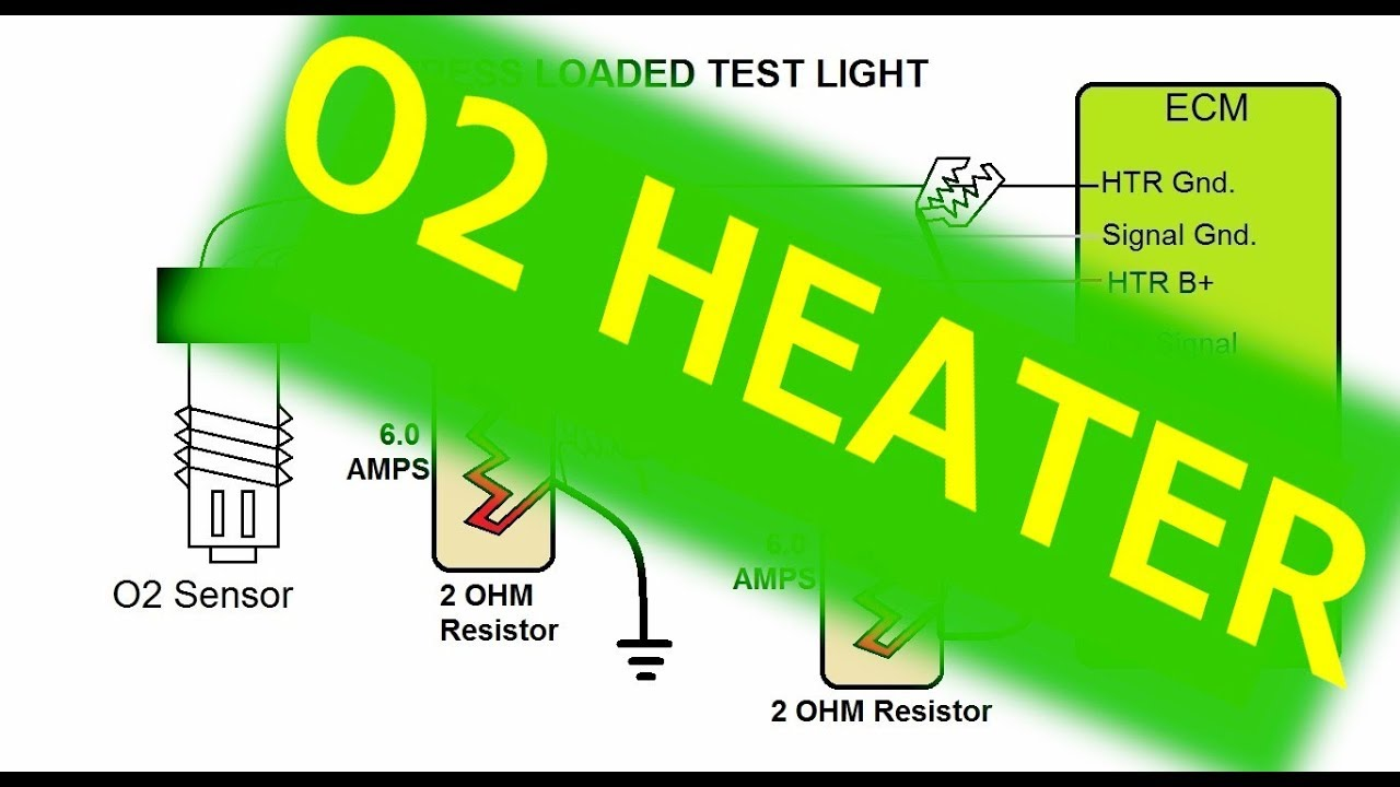 O2 Sensor Heater Wiring Test Youtube