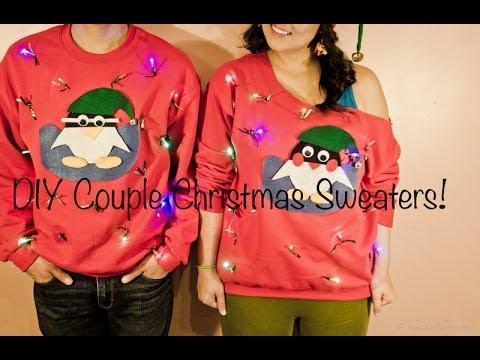 Diy Couple Christmas Sweaters Youtube