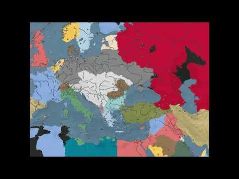 WW1 timelapse (Darkest Hour A Hearts of Iron Game) |