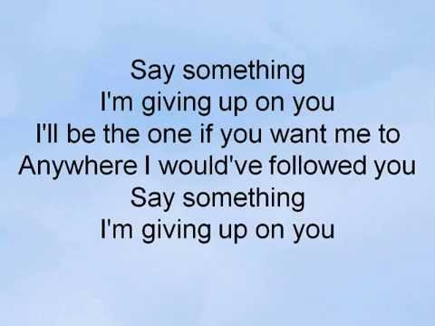Say Something KARAOKE- - A Great Big World and Christina Aguilera