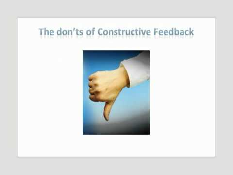 how to respond to constructive feedback