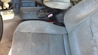 The fastest / easiest way to restore fix Worn dry dirty leather seats BMW E36 E38 E39 E90 E60 E46 X5