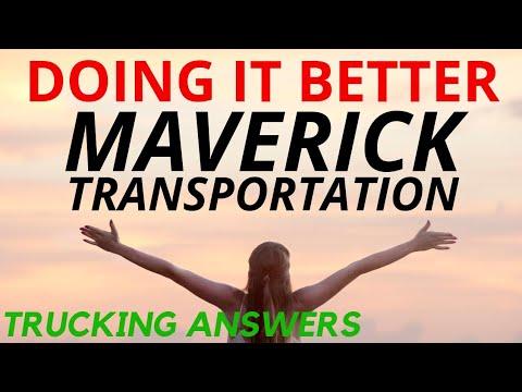 Trucking Company Doing it Better Maverick Transportation