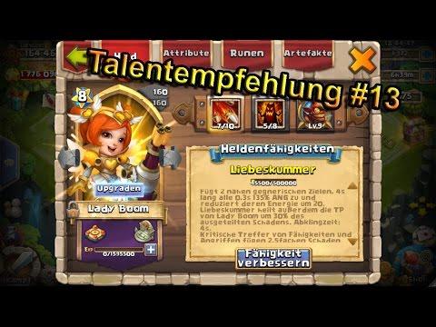 Castle Clash - Talentempfehlung #13 Lady Boom & Pixie