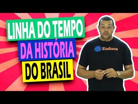 Linha do tempo da história do Brasil - História   Euduca