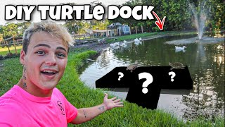 BUILDING My BACKYARD DIY TURTLE DOCK!! (did it work?)