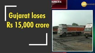 Gujarat loses Rs 15,000 crore after truckers' strike enters eighth day
