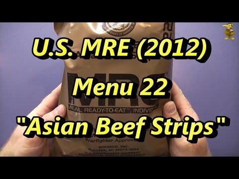 MRE Review - Menu 22 - Asian Beef Strips (2012)