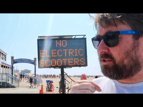 Banned From Santa Monica Pier & Venice Beach  Electric Scooters NOT Allowed