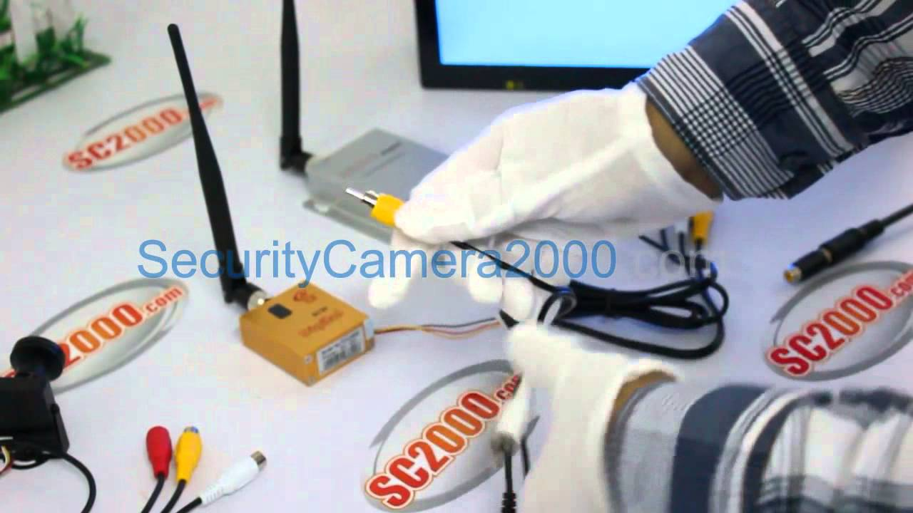 How to set up wireless transmitter and receiver kit from  securitycamera2000 com