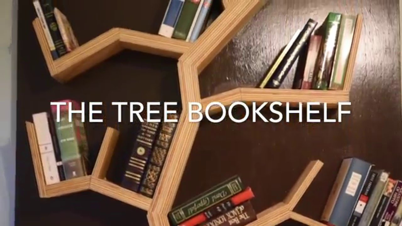 diy how to make a tree bookshelf  youtube -