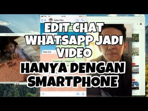 Tutorial Edit Text Whatsapp Jadi Video Seperti Di Film