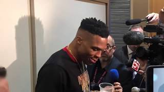 Russell Westbrook Postgame Talks Upcoming 1 Game Suspension & Thunder Loss vs Warriors!