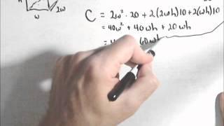 Constrained Optimization - Minimizing Cost