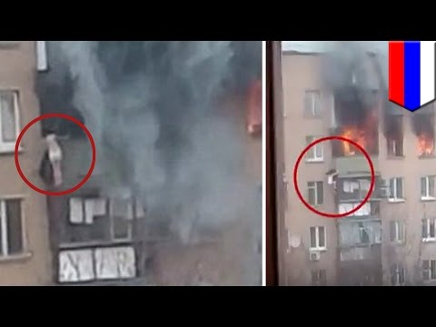 Cheating death: Woman miraculously survives 60-foot-fall from burning Moscow building