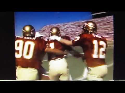 1990 Florida State's Shannon Baker's amazing TD vs LSU