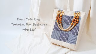 Easy Tote Bag Tutorial For Beginner ‖ Mr DIDI in the sewing room  #HandyMum
