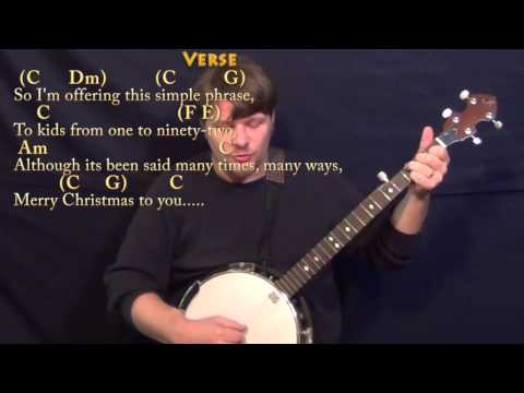 The Christmas Song - Banjo Cover Lesson in C - Chords/Lyrics