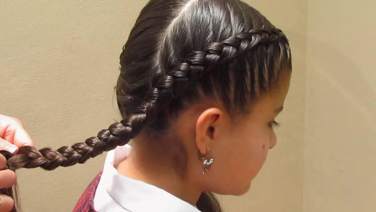 Peinados para ni as paso a paso trenza colegial moderna - Peinados de ninas ...
