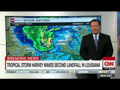 Tropical Storm Harvey makes landfall again