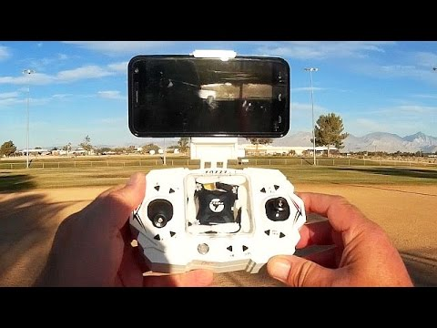 FQ777 FQ11 WiFi FPV Foldable Arm Camera Drone Flight Test Review