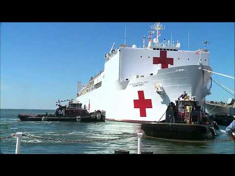 Raw Video: USNS Comfort Heads to Puerto Rico