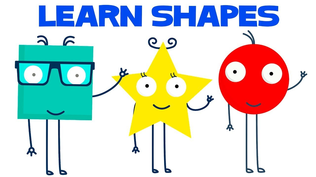 Learn Shapes For Kids With Funny Shapes