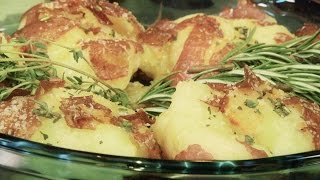Smashed & Roasted Red Potatoes With Herbs & Cannabis: Infused Eats #3