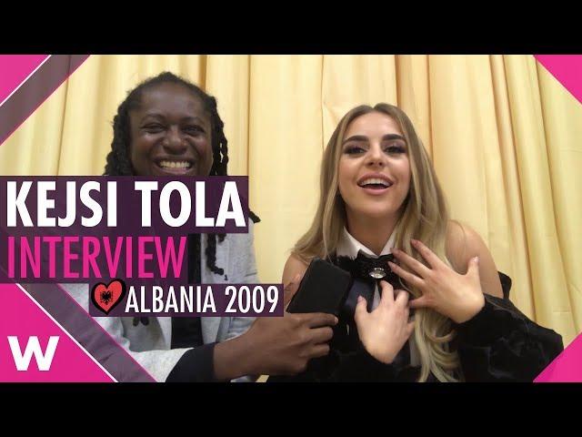Kejsi Tola (Albania 2009) Interview @ Tirana | wiwibloggs