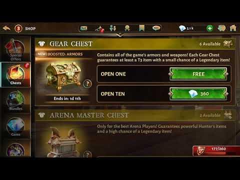 Dungeon Hunter 5 - Massive Chest Opening - Massive Legendary Drop